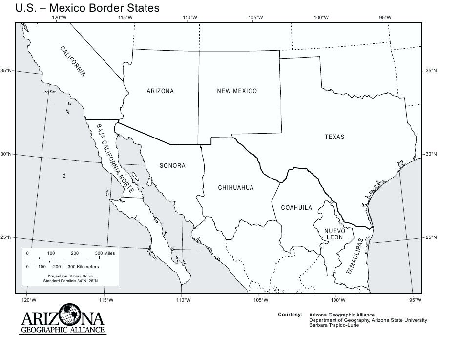 Maps Of Southwest And West USA The American Southwest - Map of us and mexico