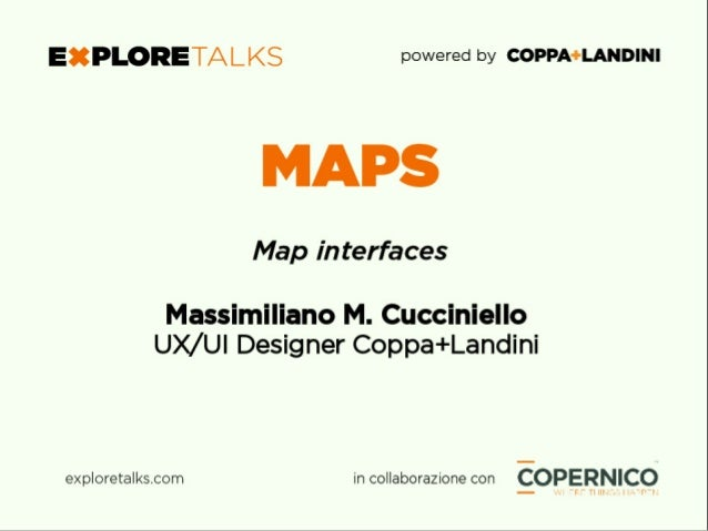 Memoria + Colpo d'occhio Sintesi MAPS – Map interfaces Massimiliano M. Cucciniello Fonte: flowingcity.com/visualiza3on/uber...