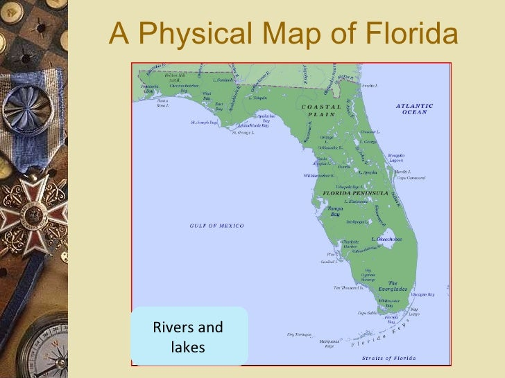 FL Map Intro Physical - Map of florida lakes