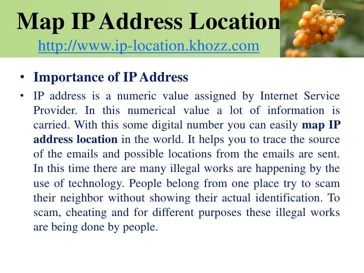 how to create ip address maps