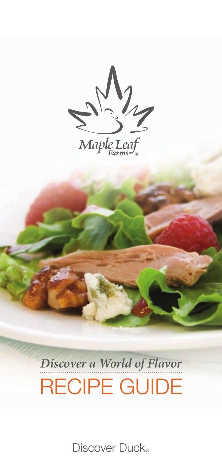 Maple Leaf Farms Duck Recipe Booklet