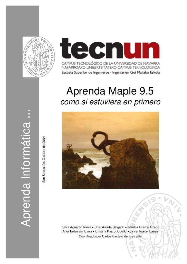 Aprenda Maple 9.5                                                           como si estuviera en primeroAprenda Informátic...