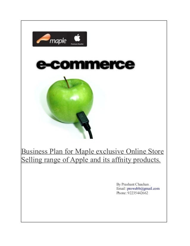 sample business plan for ecommerce