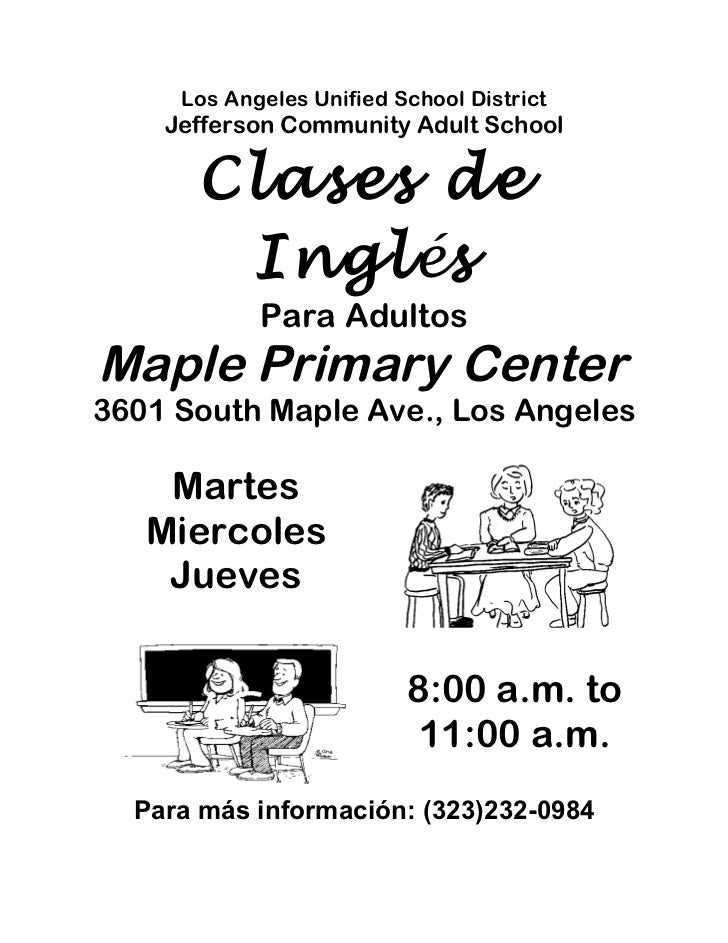 Maple flyer spanish