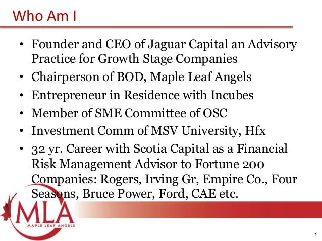 Maple leaf angels   lunch and learn - valuation of early stage companies Slide 2