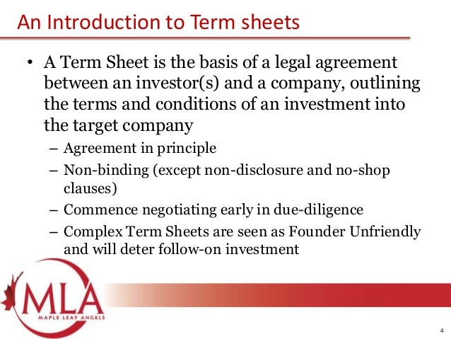 3 4 An Introduction To Term Sheets