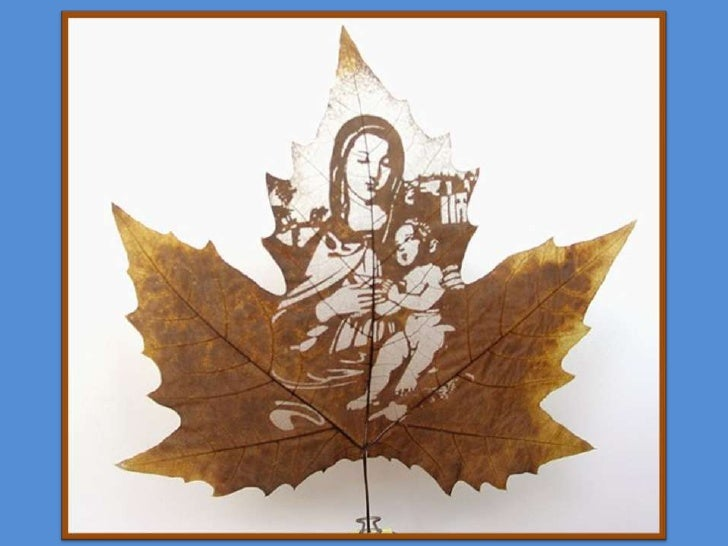 Maple leaf carving 楓葉雕刻