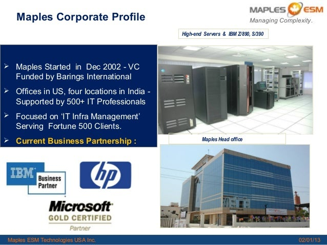 1         Maples Corporate Profile                                                                Managing Complexity.    ...
