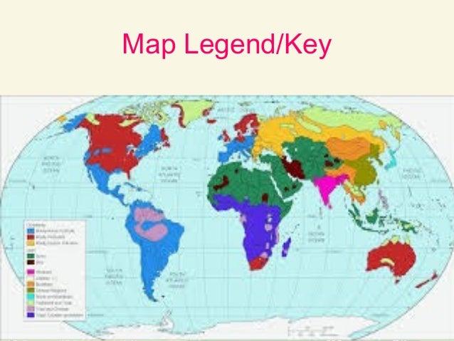 World map legend