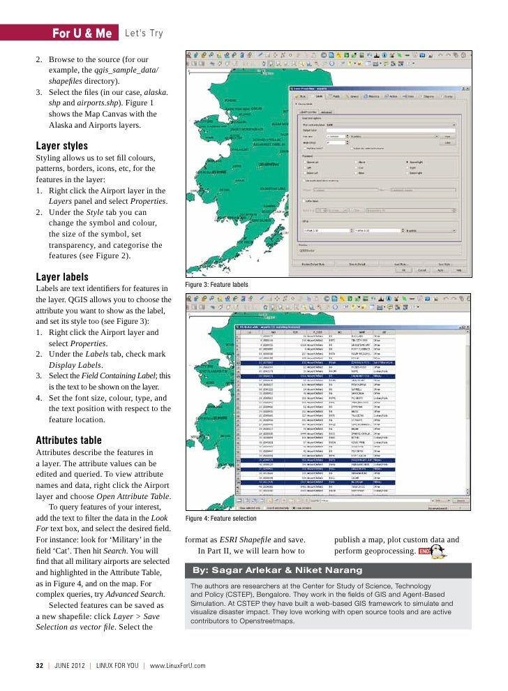 For U & Me              Lets Try2. Browse to the source (for our    example, the qgis_sample_data/    shapefiles director...