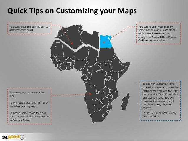 africa map for ppt