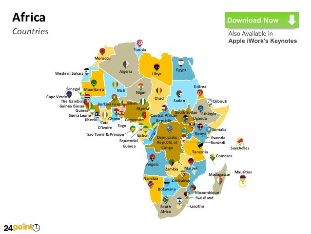 Customizable africa powerpoint map africa countries toneelgroepblik Choice Image