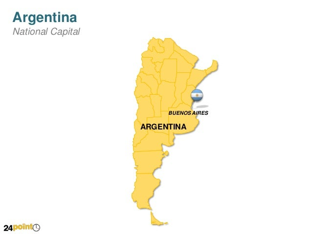 Argentina Editable PPT Map Presentation - Argentina map cities