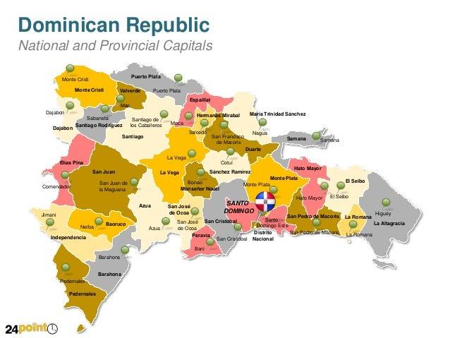 Dominican map republic alcarrizos santo domingo los Physical Map