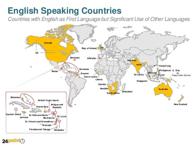 Map of English Speaking Countries