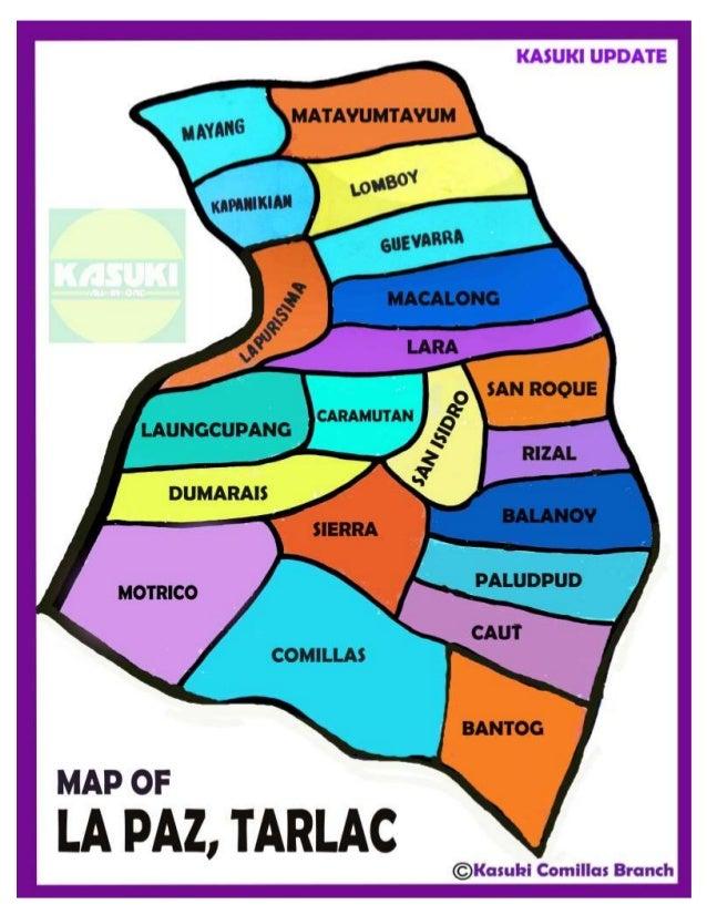 OF LA PAZ TARLAC - la paz map
