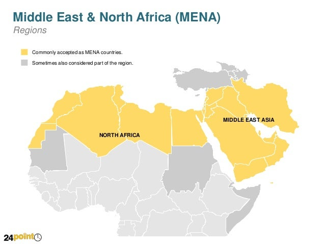 Middle East And Africa Map.Map Of Middle East And North Africa Mena Editable Powerpoint Slid