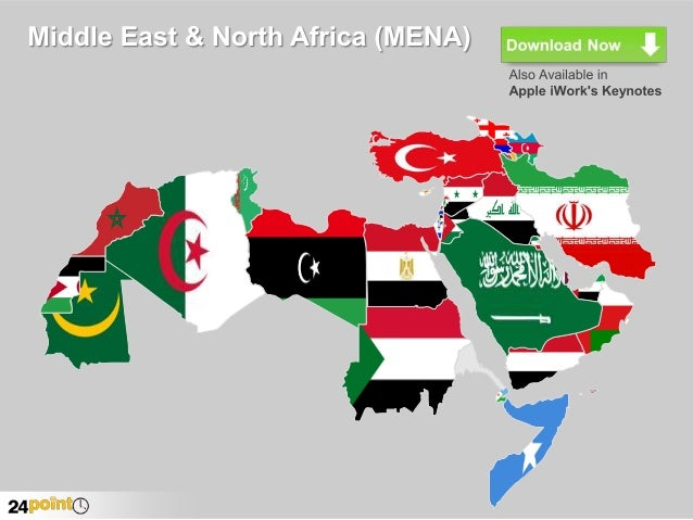 Map of Middle East and North Africa (MENA) - Editable PowerPoint Slid ...