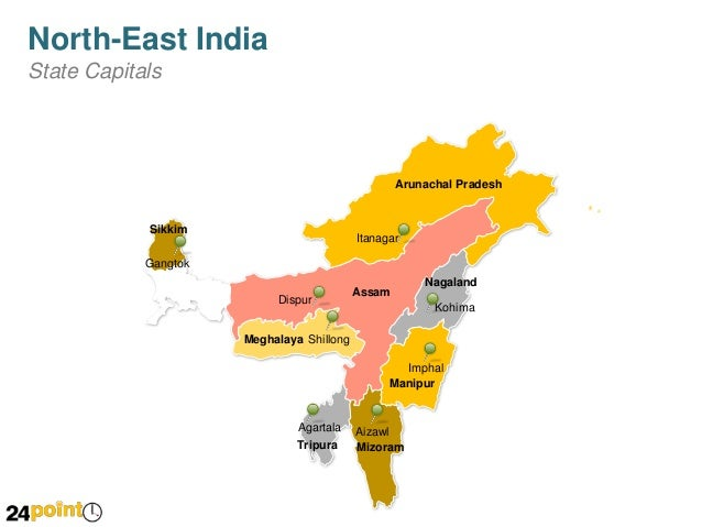 Map of North East India PPT Presentations