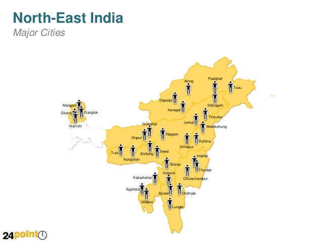 Map of North East India PPT Presentations on ↗️  id=16342