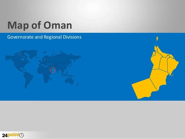 Map of Oman Governorate and Regional Divisions