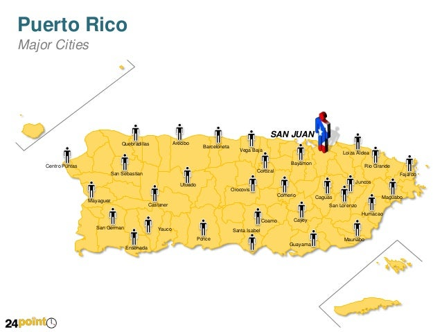 PowerPoint Map of Puerto Rico