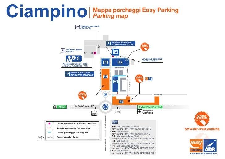 Cartina Roma Ciampino.La Mappa Dei Parcheggi Easy Parking Di Roma Fiumicino
