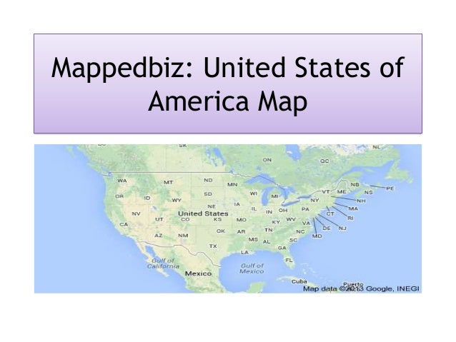 Mappedbiz: United States of America Map