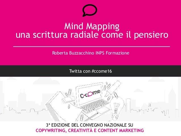 3ª EDIZIONE DEL CONVEGNO NAZIONALE SU COPYWRITING, CREATIVITÀ E CONTENT MARKETING Mind Mapping una scrittura radiale come ...