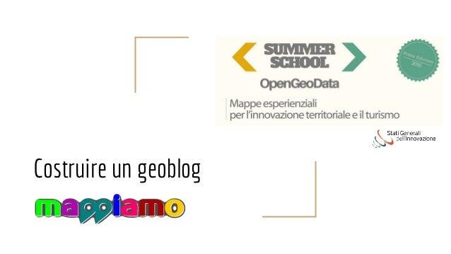 Costruire un geoblog