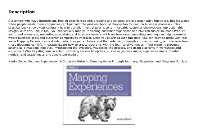 Kindle Books Mapping Experiences  A Complete Guide To Creating Value U2026