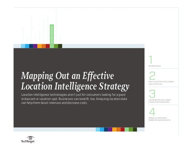 Handbook 1EDITOR'S NOTE 2WHAT LOCATION INTELLIGENCE CAN DO FOR YOU 3LOCATION ROLLOUTS NEED CLEAR-EYED NAVIGATION 4MOBILE B...