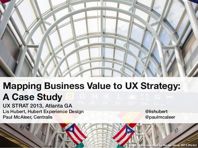 Mapping Business Value to UX Strategy: A Case Study UX STRAT 2013, Atlanta GA Lis Hubert, Hubert Experience Design! ! ! ! ...