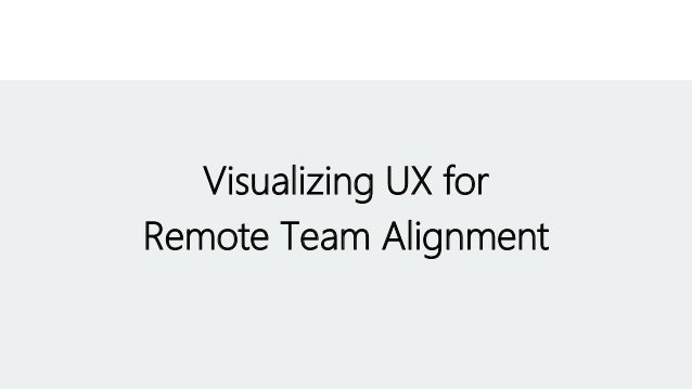 Visualizing UX for Remote Team Alignment