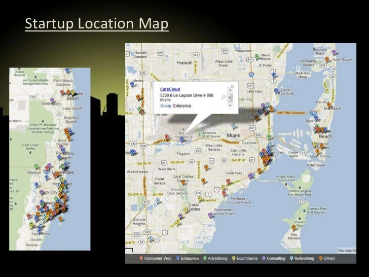 Mapping of miami startups