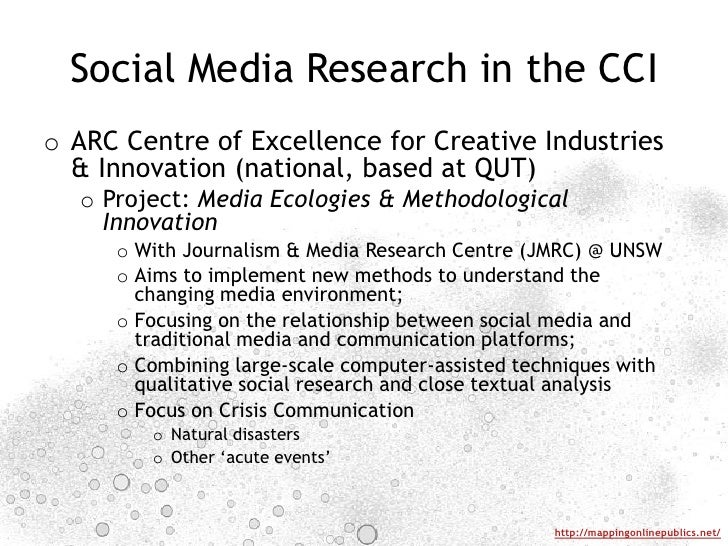 Social Media Research in the CCI<br />ARC Centre of Excellence for Creative Industries & Innovation (national, based at QU...