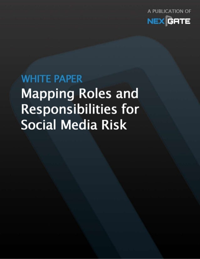 Title:	   Mapping	   Organizational	   Roles	   &	    Responsibilities	   for	   Social	   Media	   Risk	    Subtitle:	   ...