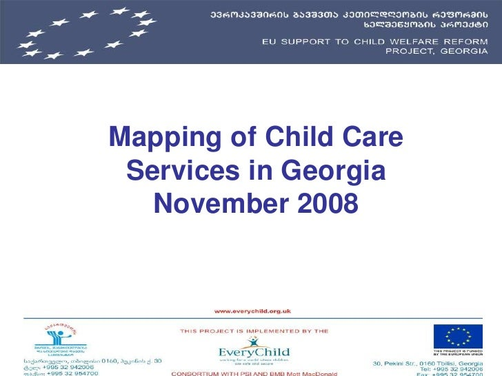Mapping of Child Care Services in GeorgiaNovember 2008<br />