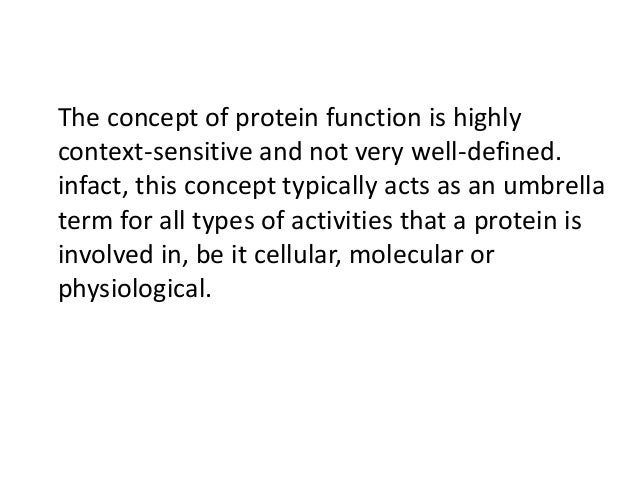 Mapping Protein To Function