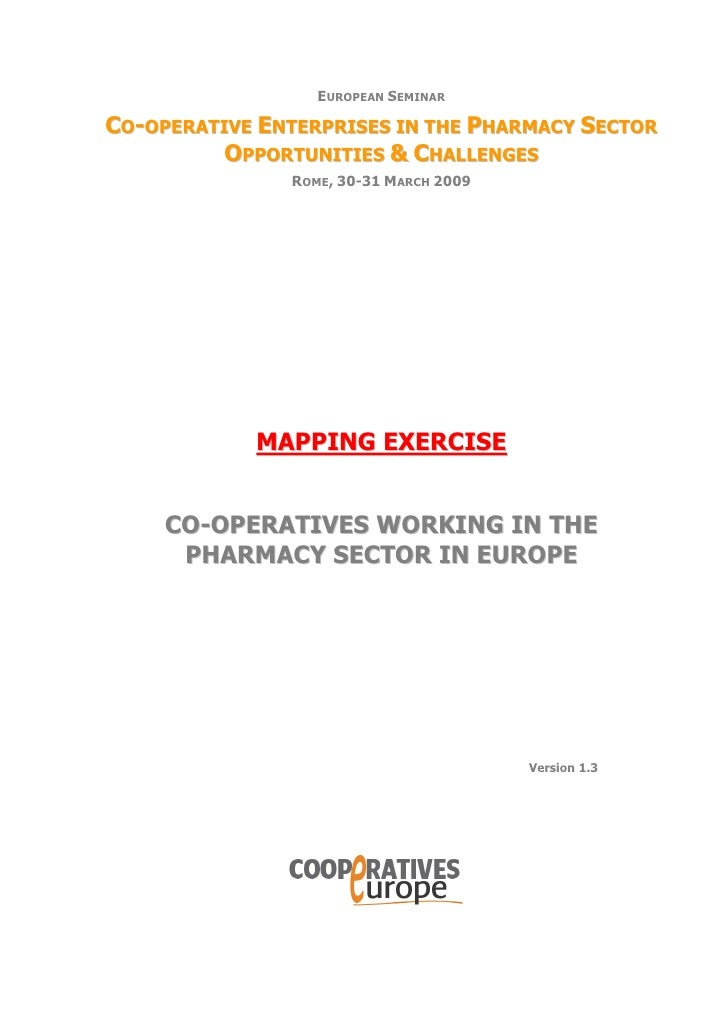 EUROPEAN SEMINAR  CO-OPERATIVE ENTERPRISES IN THE PHARMACY SECTOR           OPPORTUNITIES & CHALLENGES                ROME...