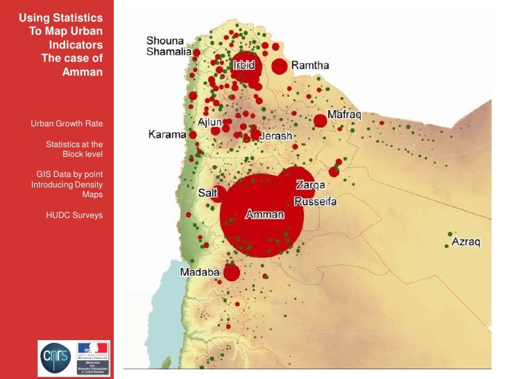 Using Statistics  To Map Urban      Indicators     The case of        Amman      Urban Growth Rate       Statistics at the...