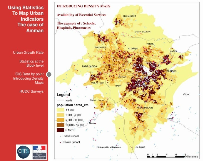 INTRODUCING DENSITY MAPS Using Statistics  To Map Urban            Availability of Essential Services      Indicators     ...