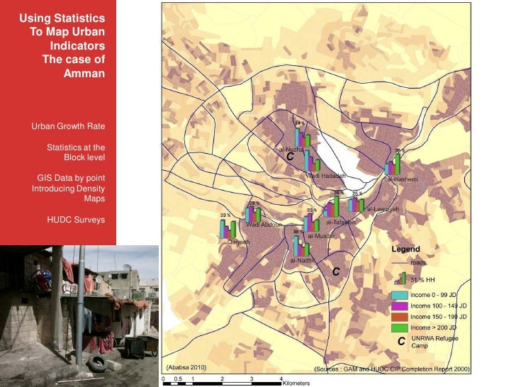 Using Statistics         MONTHLY INCOME in INFORMAL SETTLEMENTS in 2000  To Map Urban                             ﺍﻟﺪﺧﻞ ﺍ...