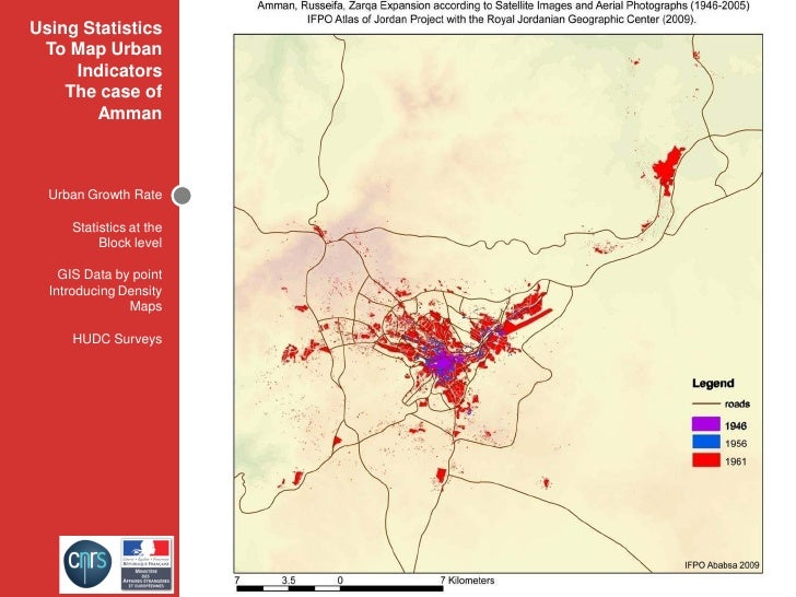 Using Statistics  To Map Urban      Indicators     The case of          2005 - 1946 ﻣﻌﺪﻻﺕ ﺍﻟﻨﻤﻮ ﺍﻟﻤﺪﻳﻨﻲ ﻟﻌﻤﺎﻥ        Amm...