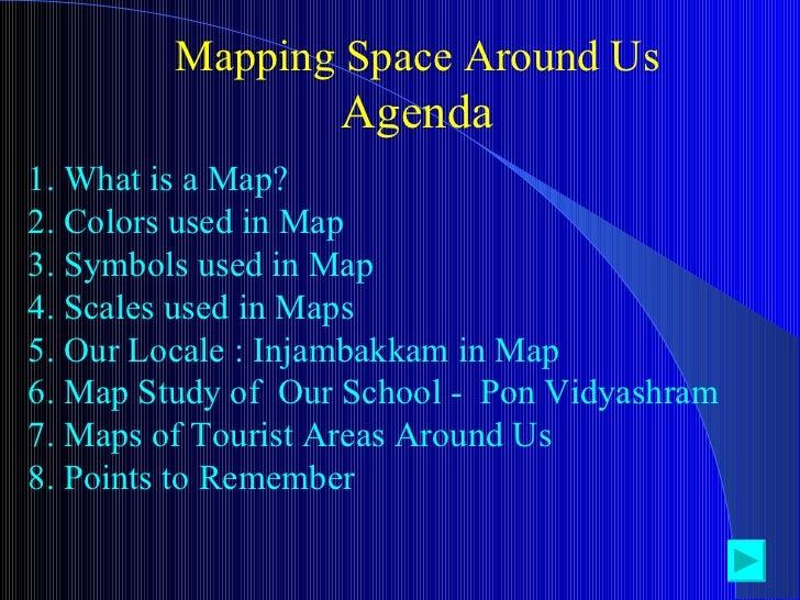 Mapping Space Around Us - Us adgenda map