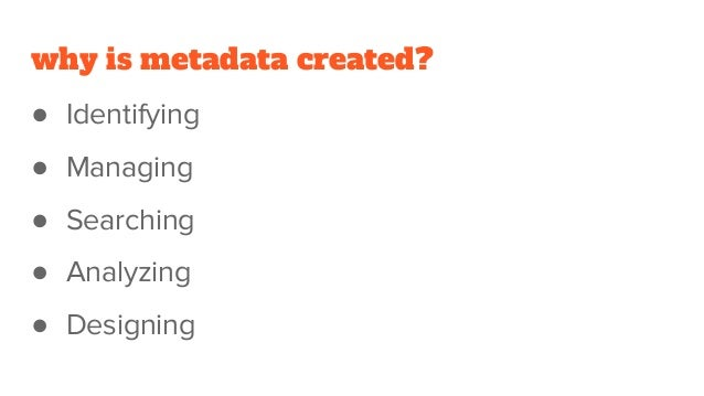 Reusing Collection Metadata as Data Slide 3