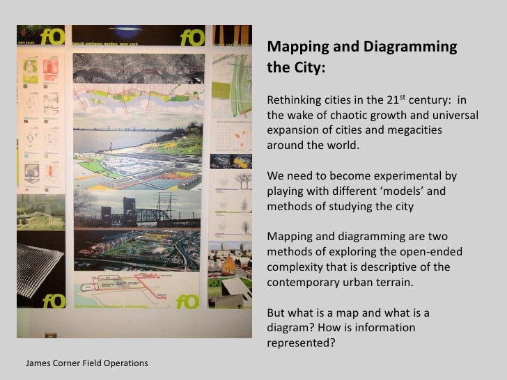 Mapping and Diagramming                                 the City:                                 Rethinking cities in the...