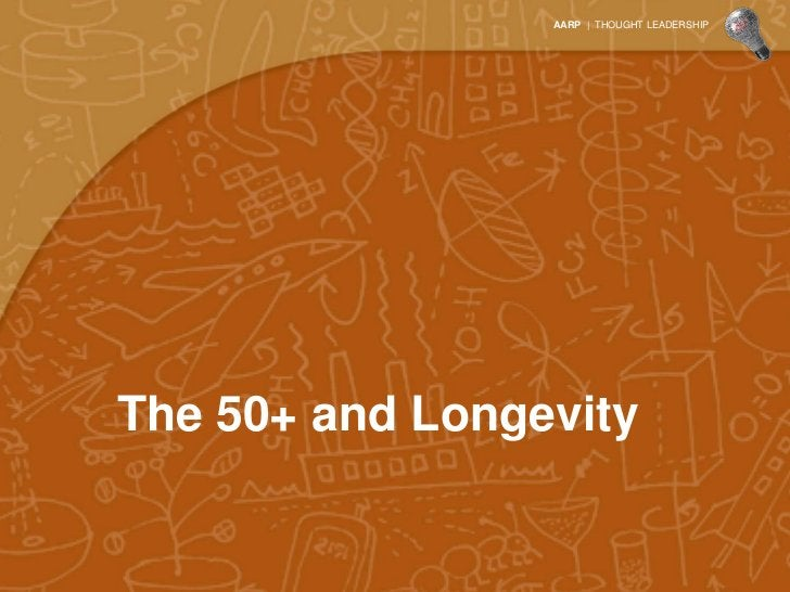 AARP | THOUGHT LEADERSHIPThe 50+ and Longevity