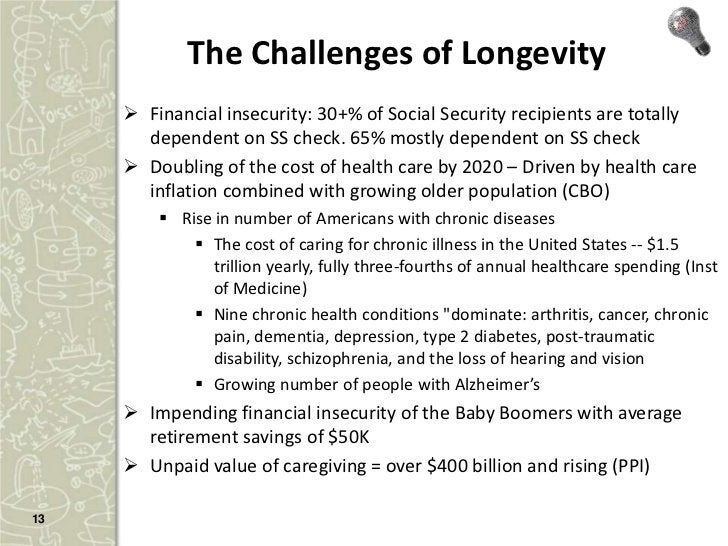 The Upside of Longevity – Economic Growth,         Productivity Growth, and Prosperity        New industries (eg aging in...