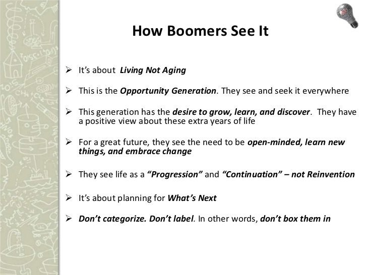 Baby Boomers (45-64) spent $2.5                                        Trillion in 2010                                   ...